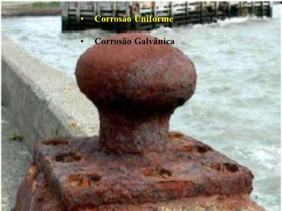 Corrosão Uniforme Corrosão Galvânica Eng. Naval - I.S.T.