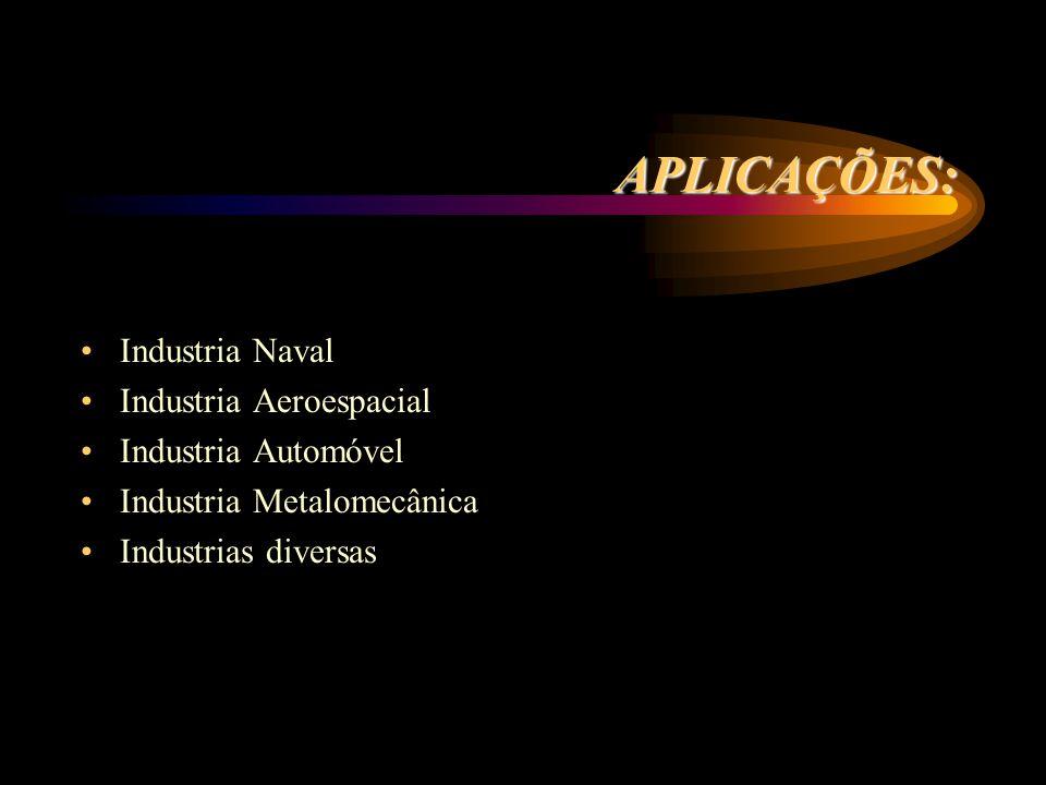 APLICAÇÕES: Industria Naval Industria Aeroespacial Industria Automóvel
