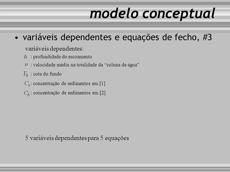 modelo conceptual variáveis dependentes e equações de fecho, #3