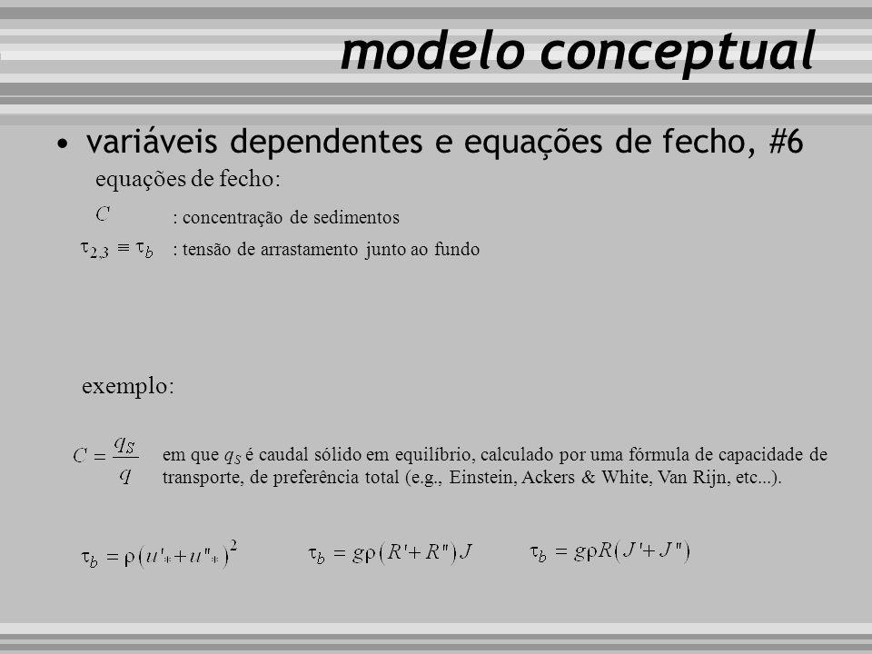 modelo conceptual variáveis dependentes e equações de fecho, #6
