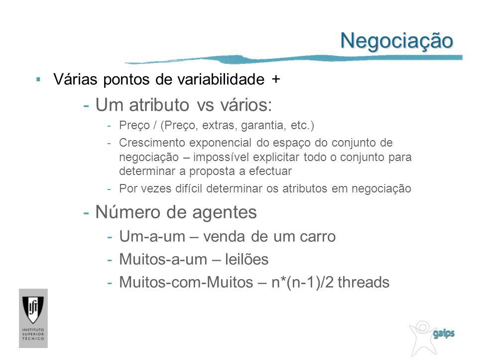 Negociação Um atributo vs vários: Número de agentes