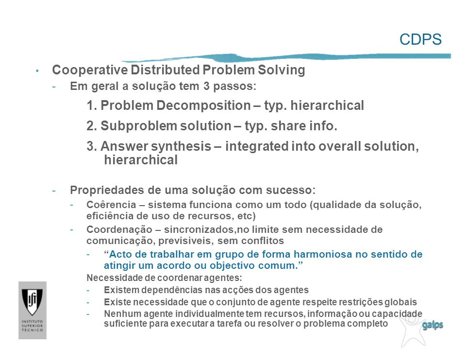 CDPS Cooperative Distributed Problem Solving