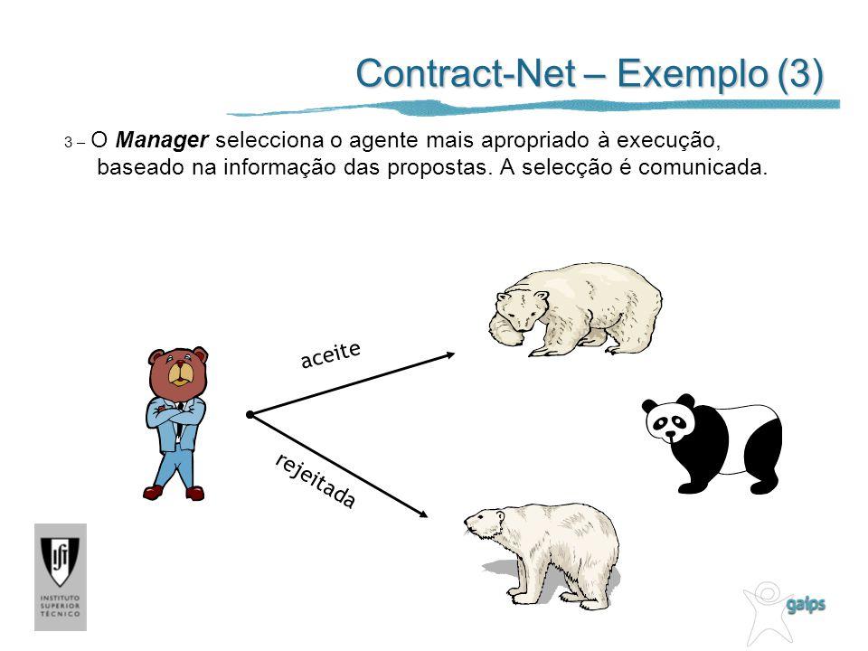 Contract-Net – Exemplo (3)