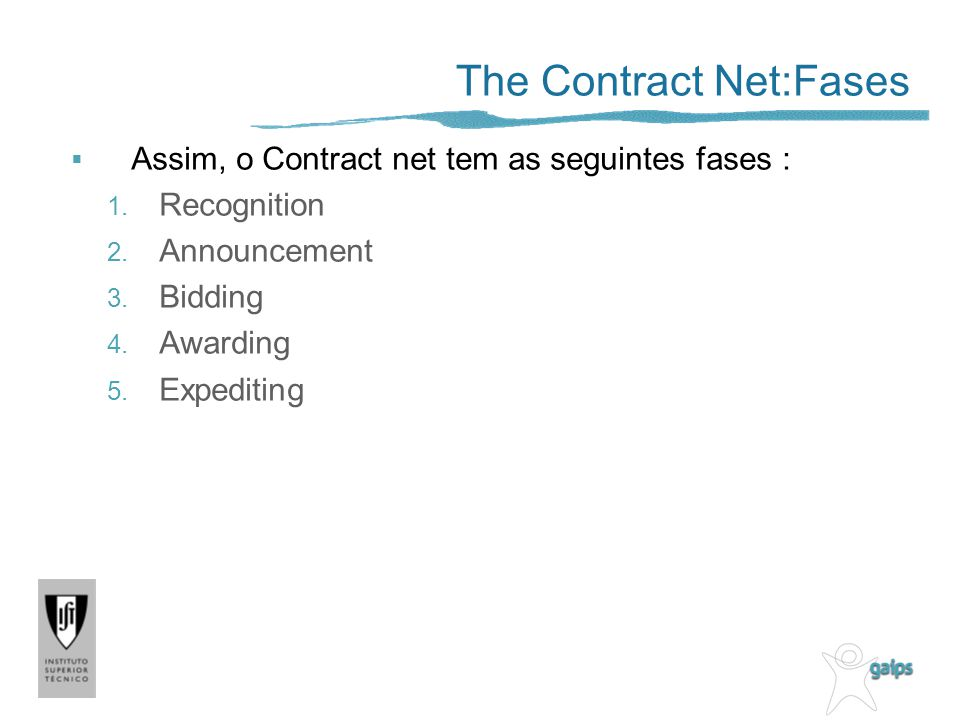 The Contract Net:Fases
