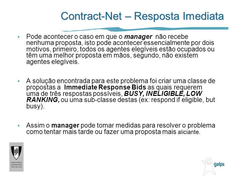 Contract-Net – Resposta Imediata