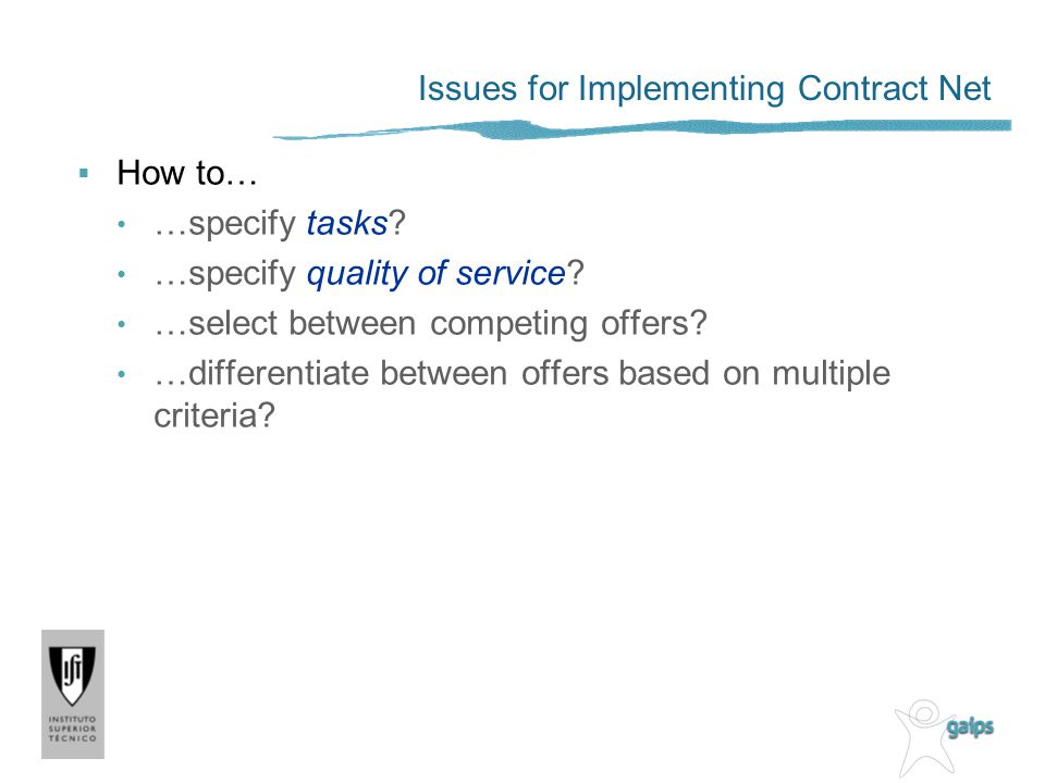 Issues for Implementing Contract Net