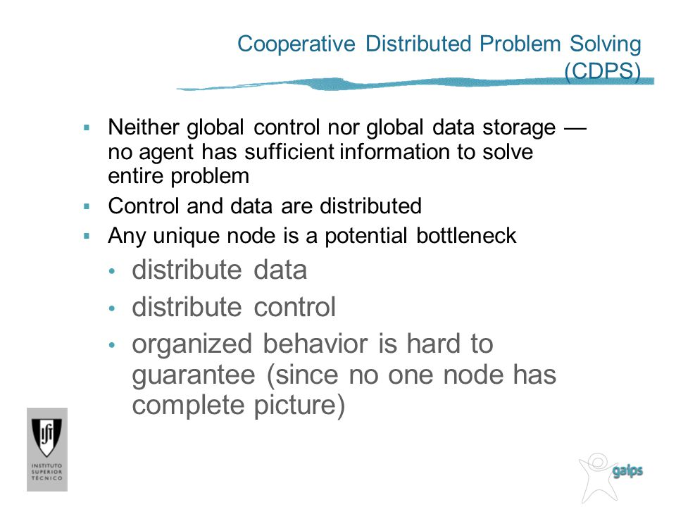 Cooperative Distributed Problem Solving (CDPS)