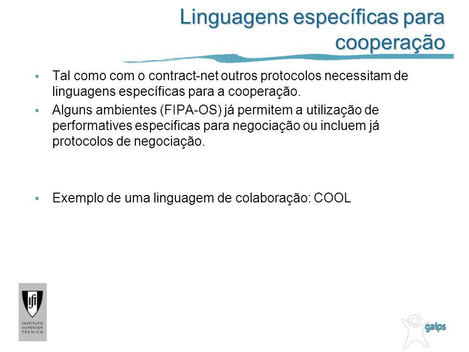 Linguagens específicas para cooperação