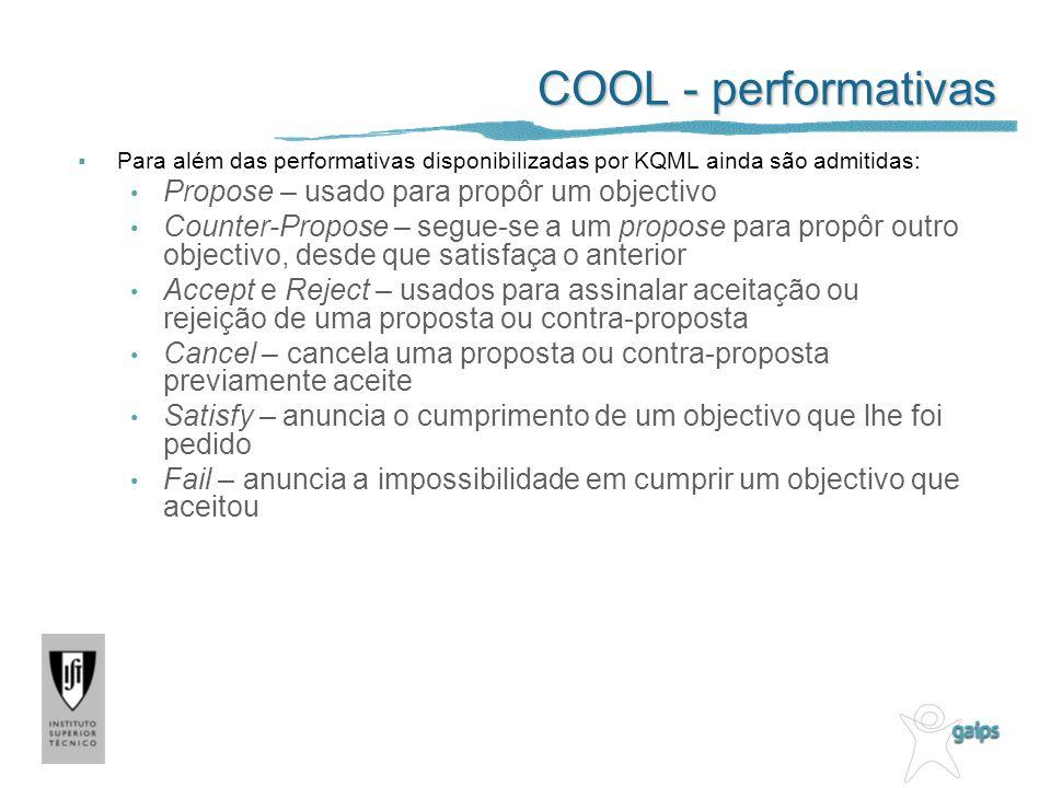 COOL - performativas Propose – usado para propôr um objectivo