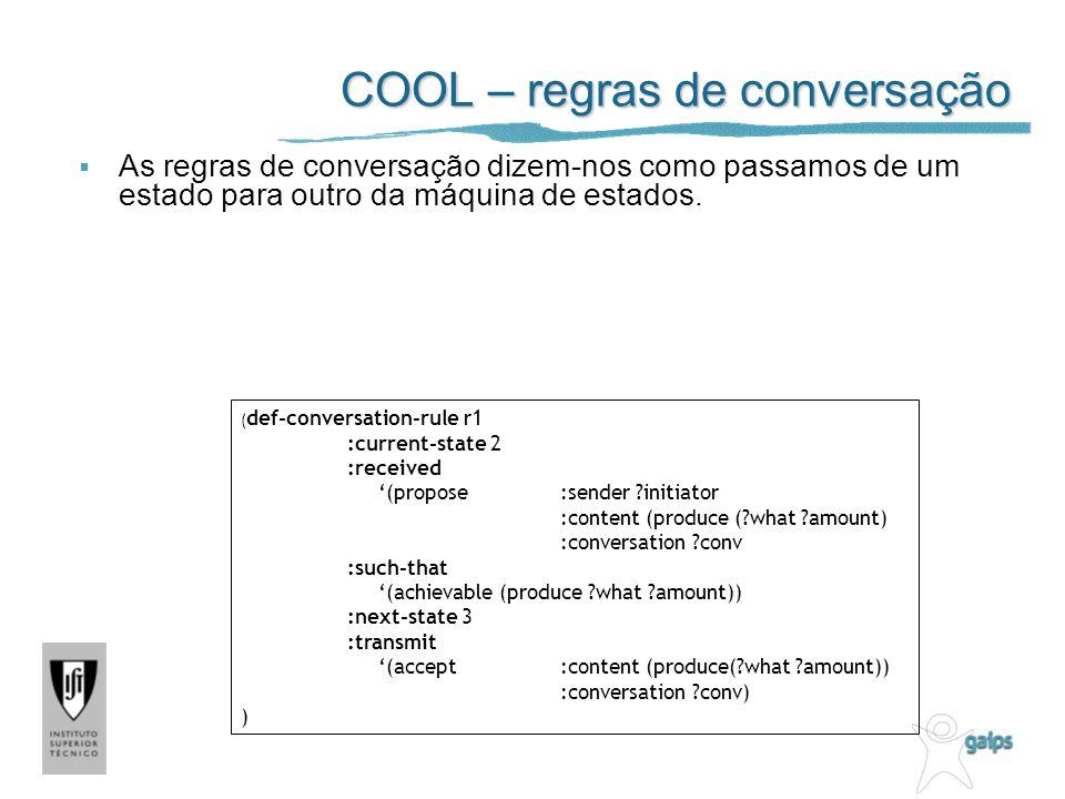 COOL – regras de conversação