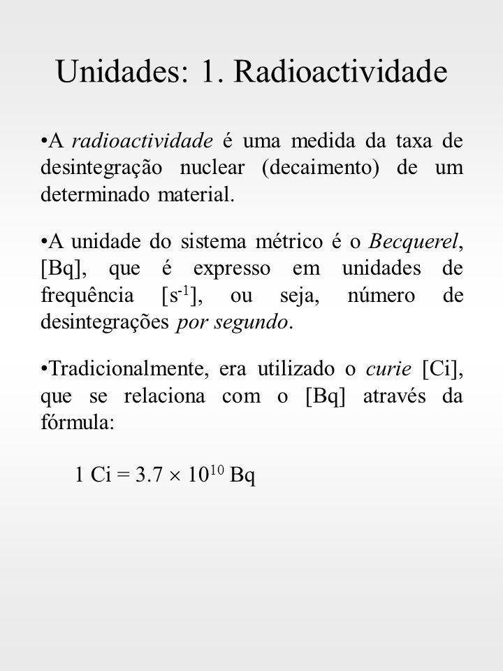 Unidades: 1. Radioactividade