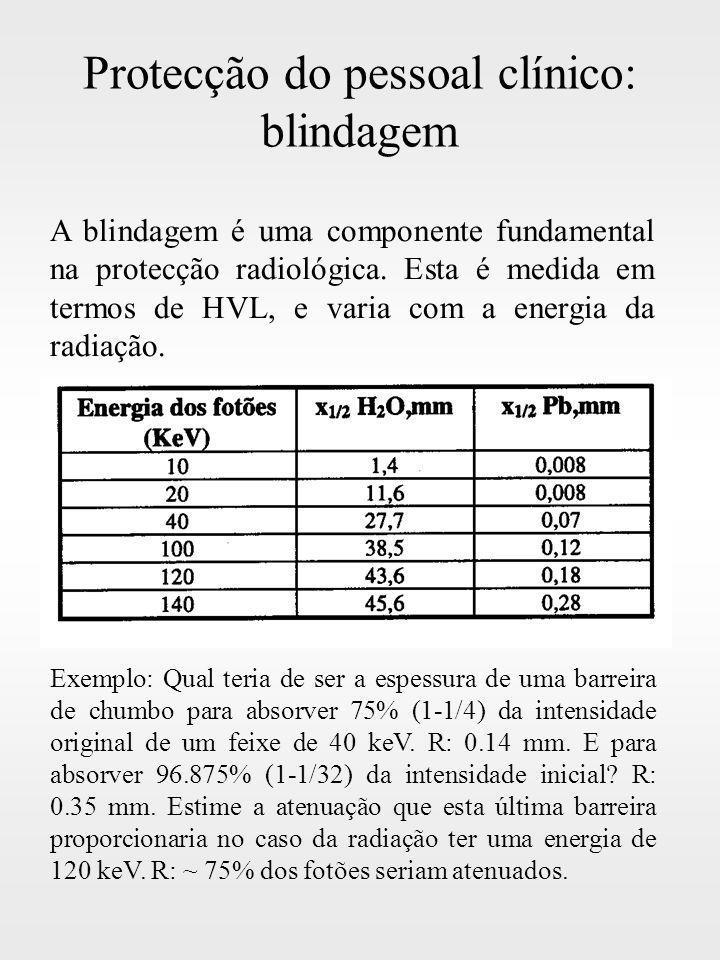 Protecção do pessoal clínico: blindagem
