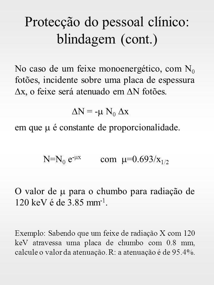 Protecção do pessoal clínico: blindagem (cont.)
