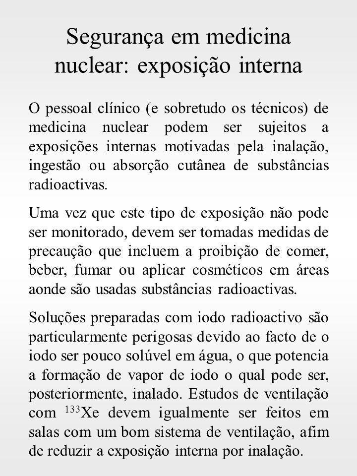 Segurança em medicina nuclear: exposição interna