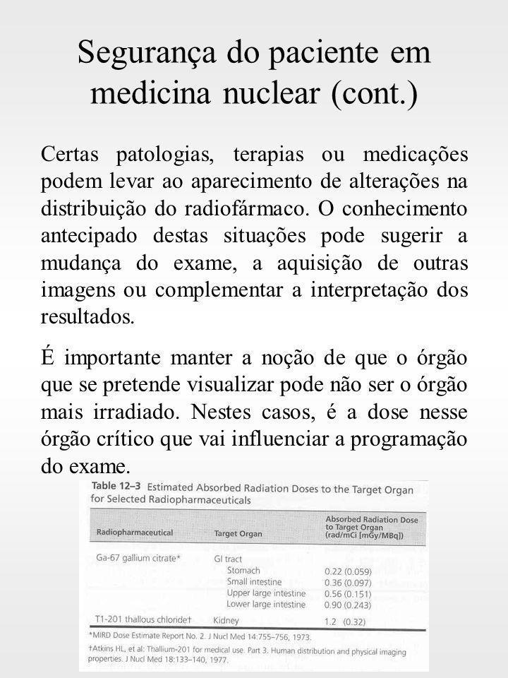 Segurança do paciente em medicina nuclear (cont.)