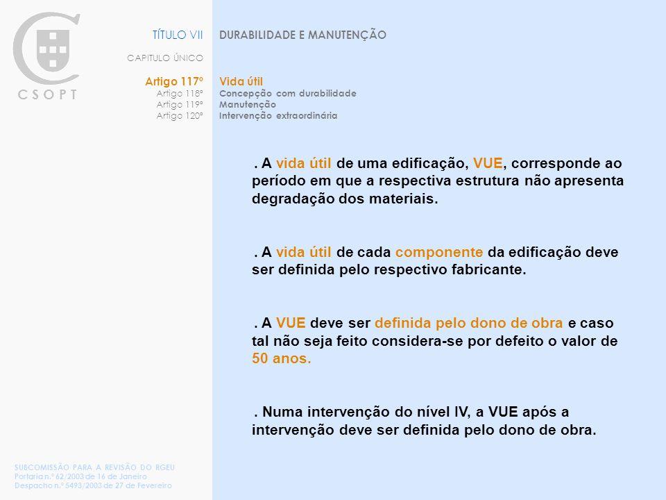 TÍTULO VII CAPITULO ÚNICO Artigo 117º Artigo 118º Artigo 119º Artigo 120º