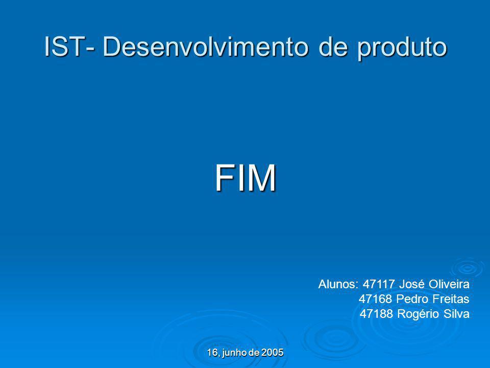 IST- Desenvolvimento de produto