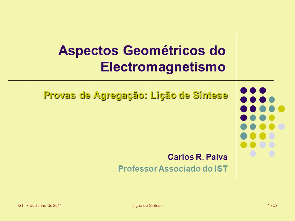Aspectos Geométricos do Electromagnetismo
