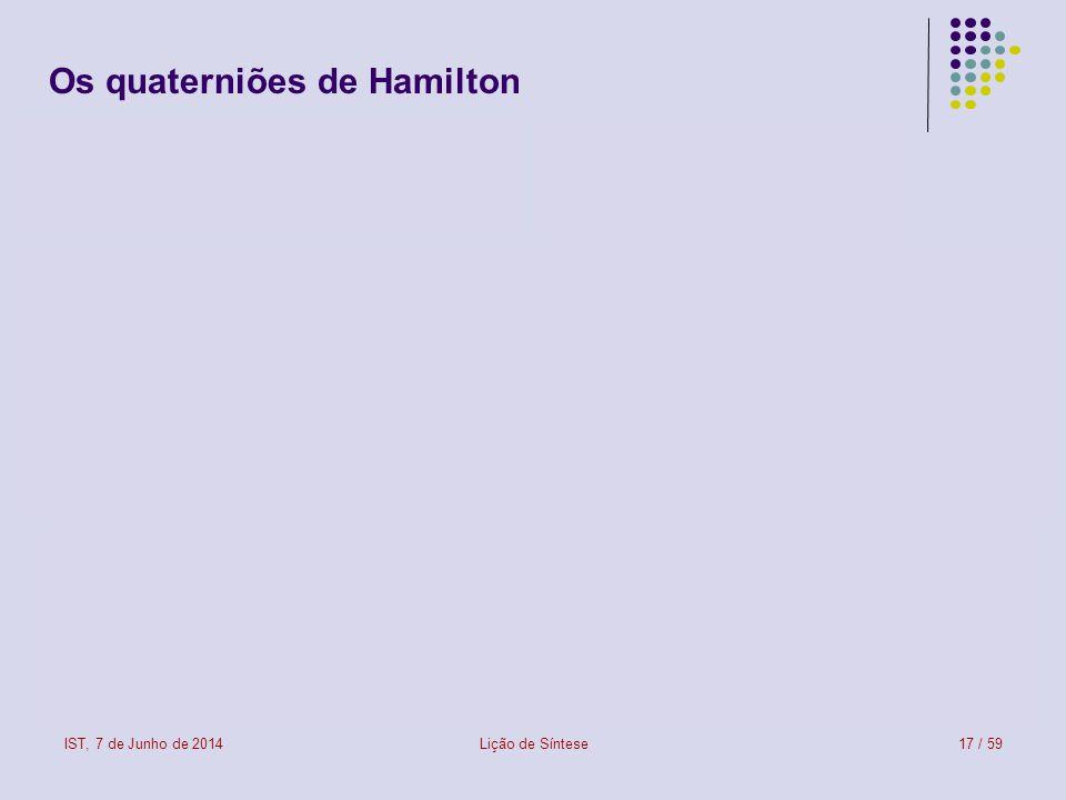 Os quaterniões de Hamilton