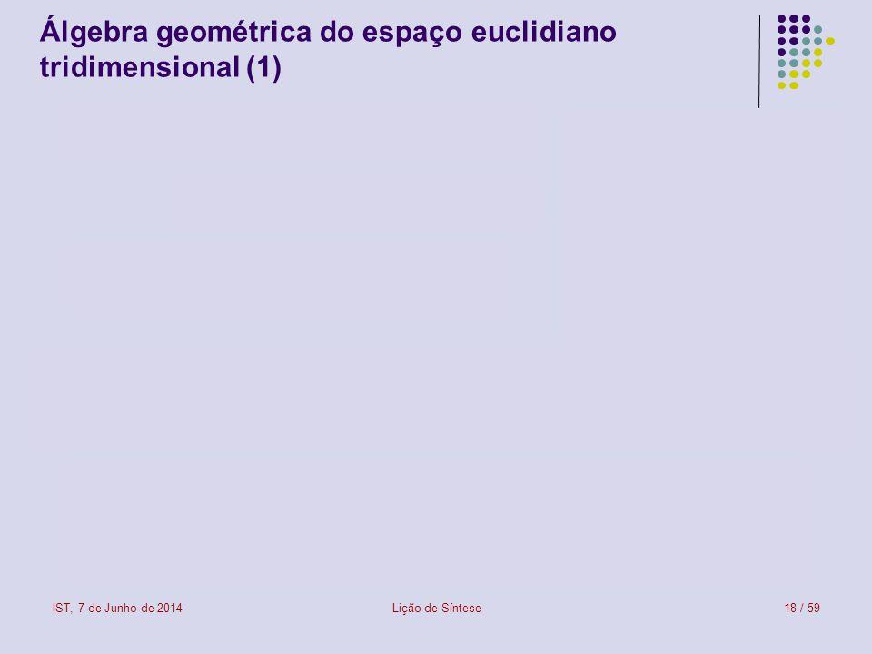 Álgebra geométrica do espaço euclidiano tridimensional (1)