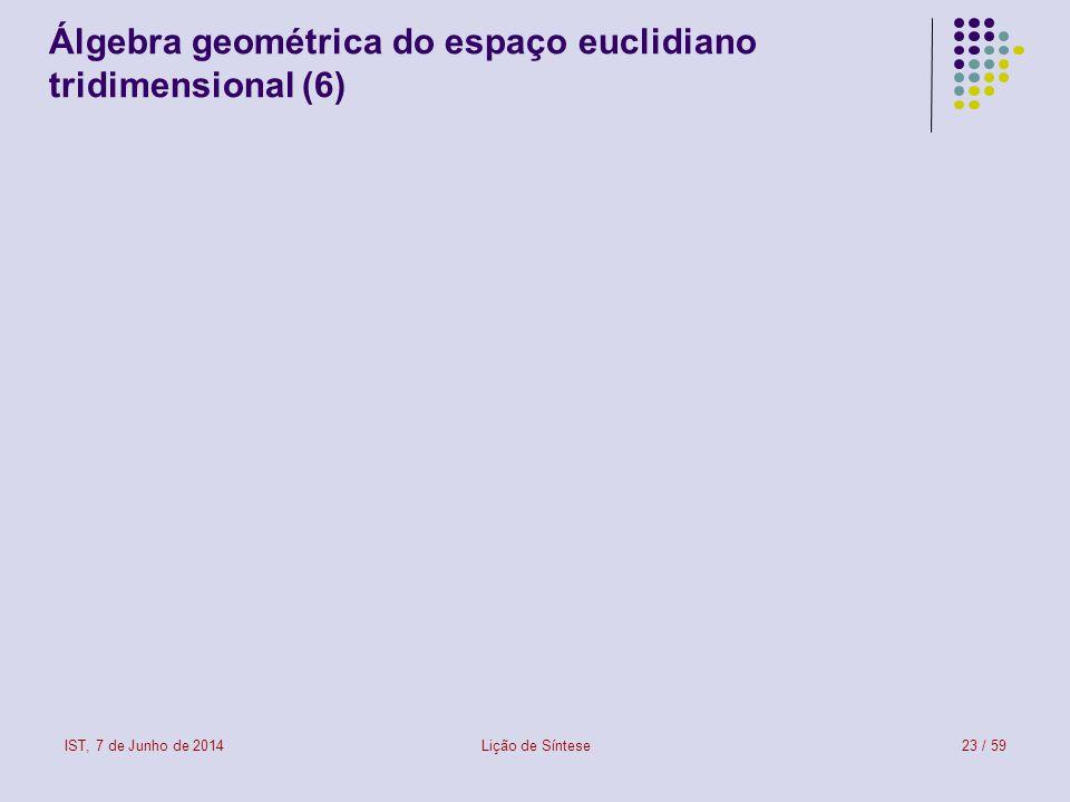 Álgebra geométrica do espaço euclidiano tridimensional (6)