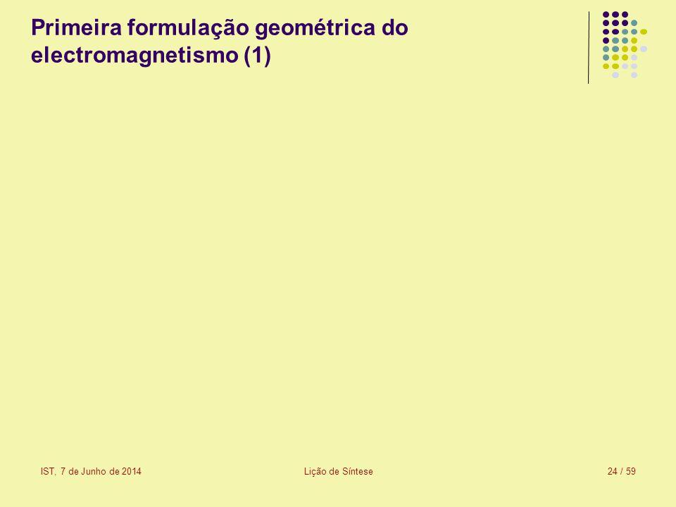 Primeira formulação geométrica do electromagnetismo (1)
