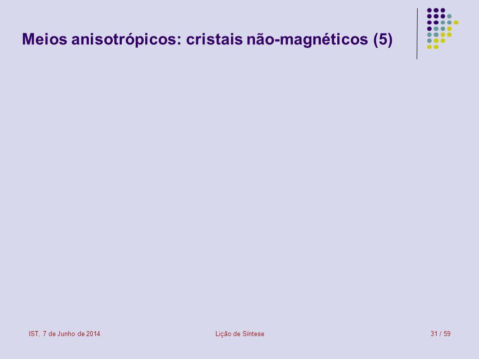 Meios anisotrópicos: cristais não-magnéticos (5)