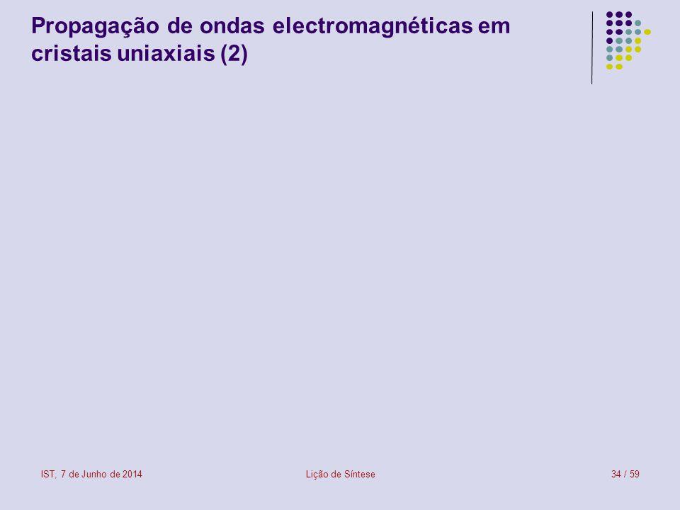 Propagação de ondas electromagnéticas em cristais uniaxiais (2)