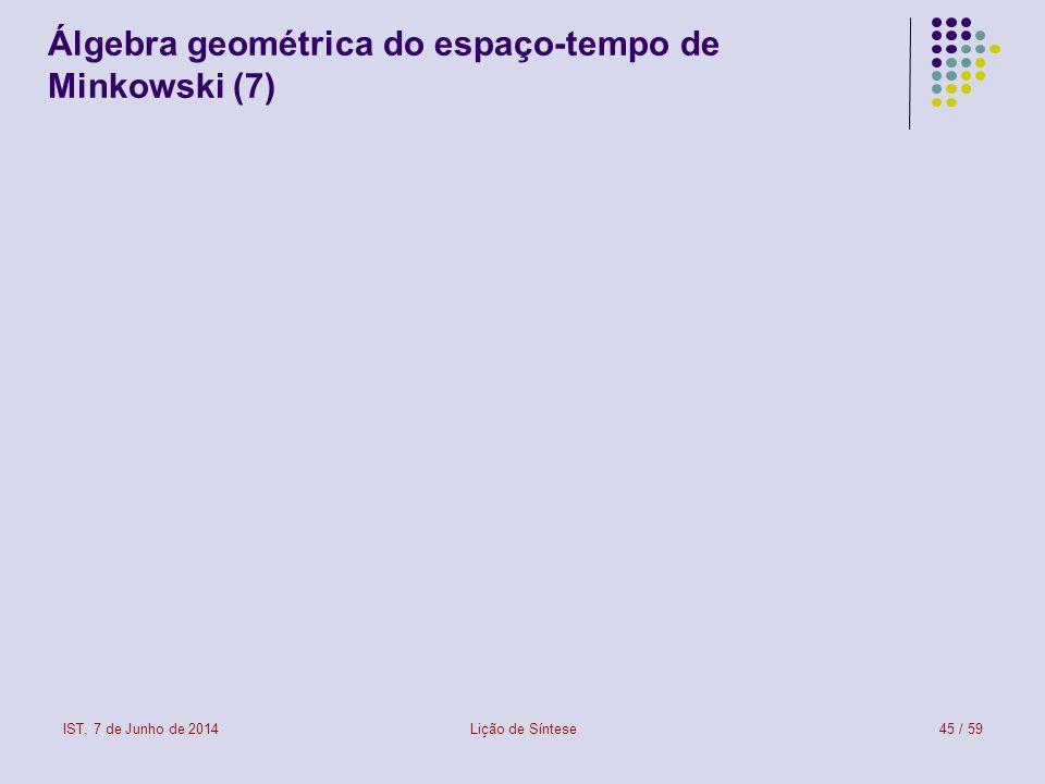 Álgebra geométrica do espaço-tempo de Minkowski (7)