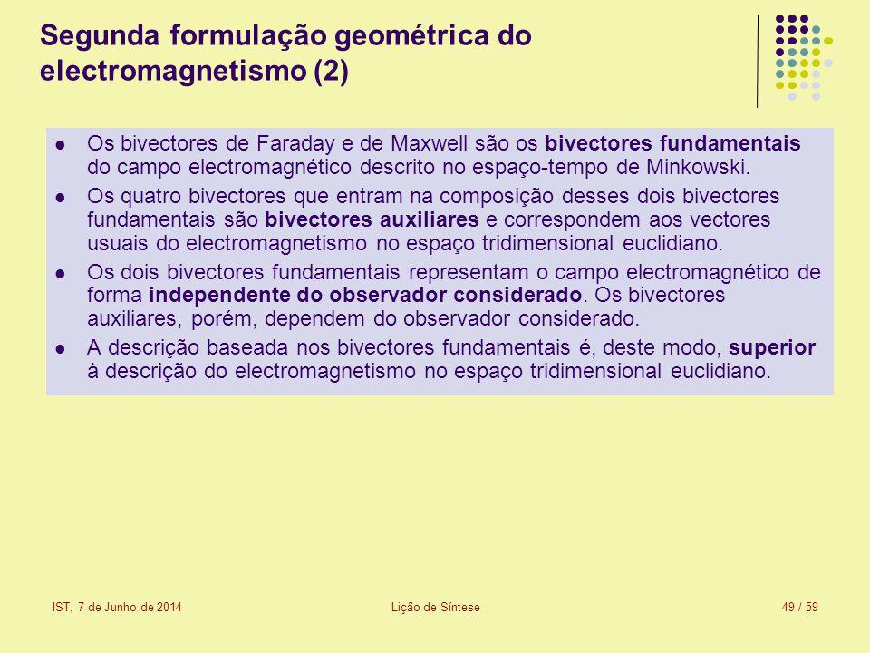 Segunda formulação geométrica do electromagnetismo (2)