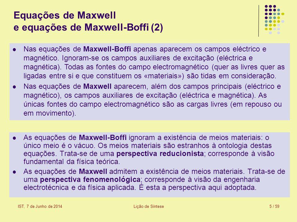Equações de Maxwell e equações de Maxwell-Boffi (2)