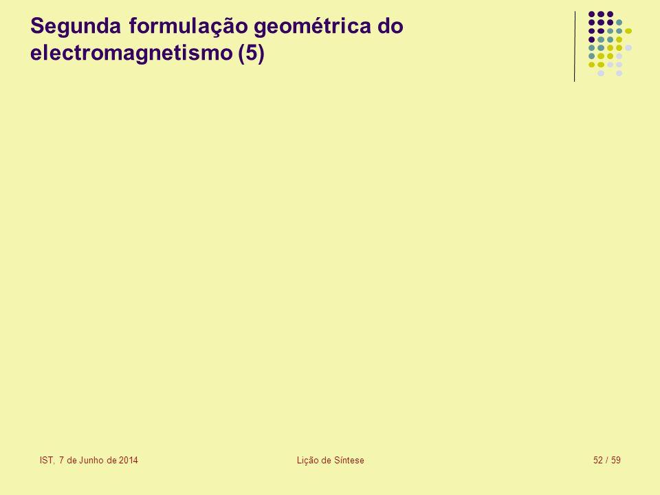 Segunda formulação geométrica do electromagnetismo (5)