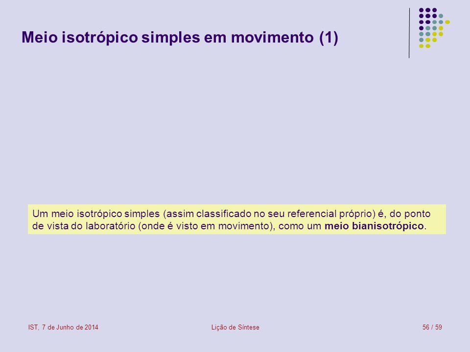 Meio isotrópico simples em movimento (1)