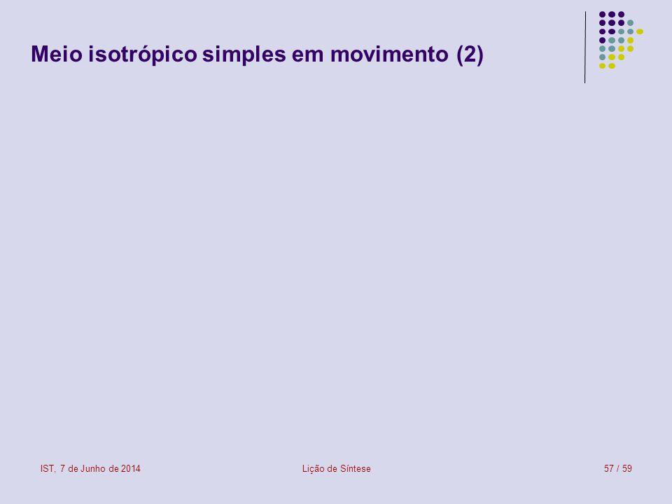 Meio isotrópico simples em movimento (2)