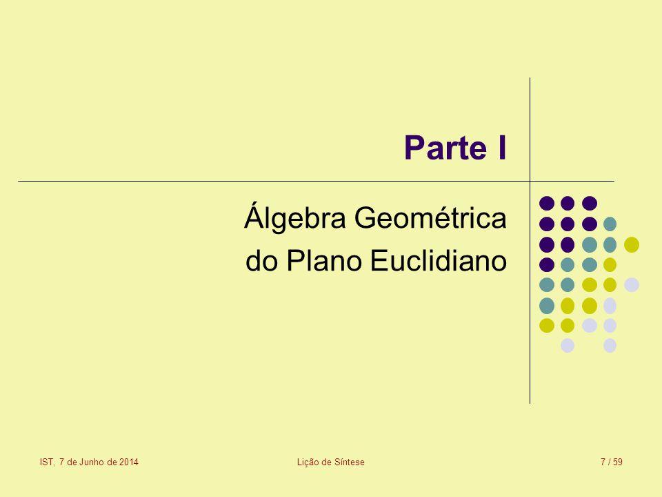 Álgebra Geométrica do Plano Euclidiano