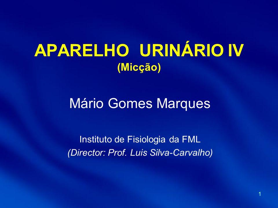 APARELHO URINÁRIO IV (Micção)