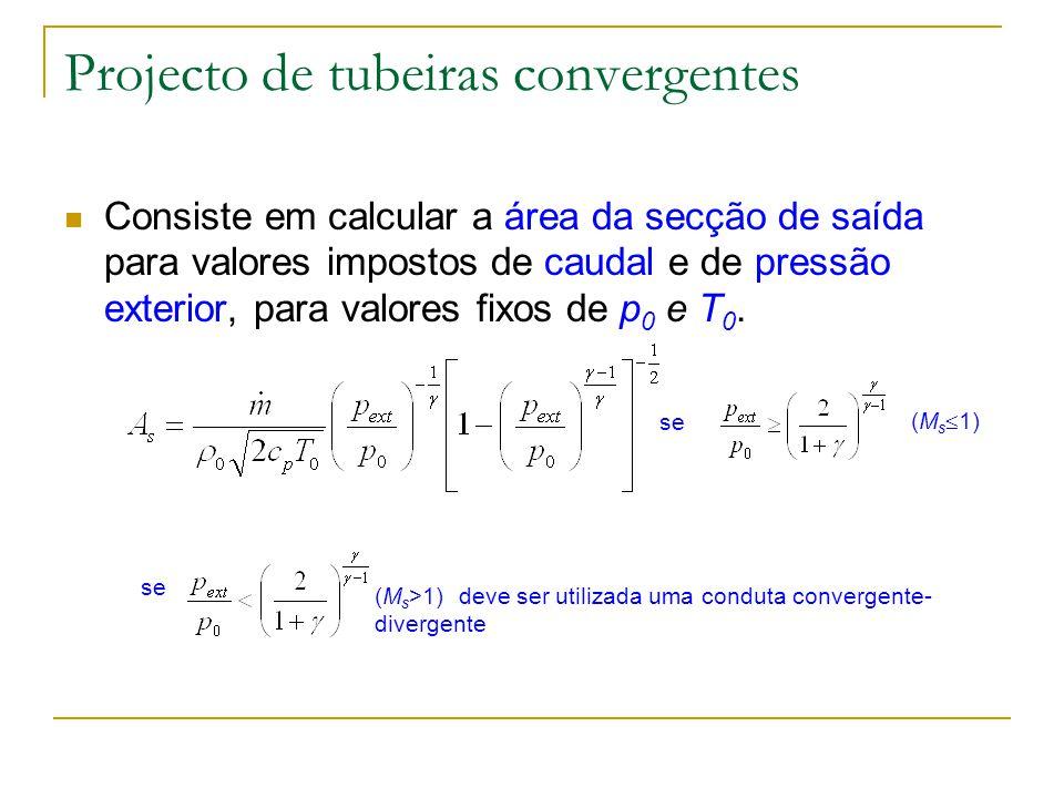 Projecto de tubeiras convergentes