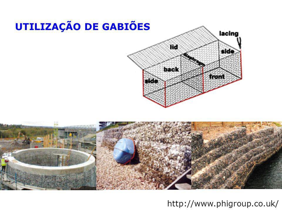 UTILIZAÇÃO DE GABIÕES http://www.phigroup.co.uk/