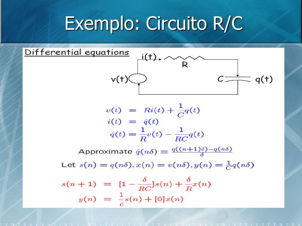 Exemplo: Circuito R/C