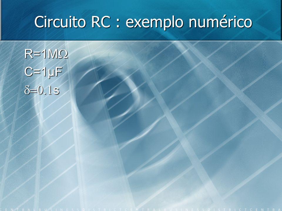 Circuito RC : exemplo numérico