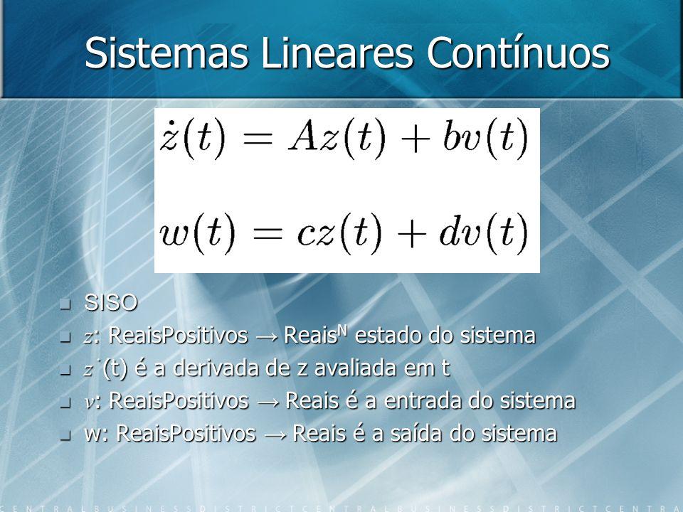 Sistemas Lineares Contínuos