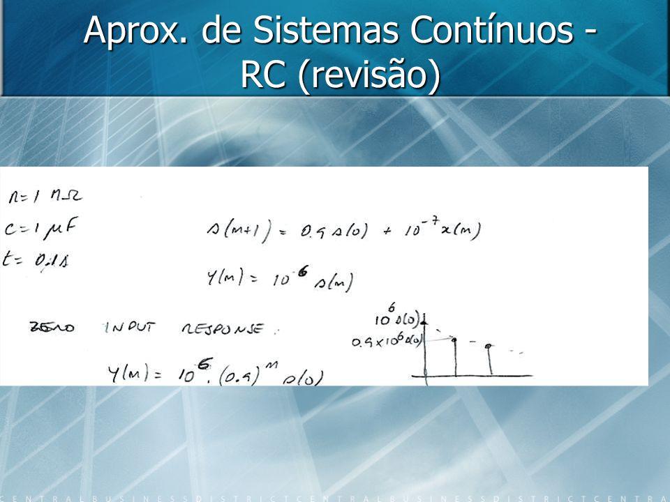 Aprox. de Sistemas Contínuos - RC (revisão)