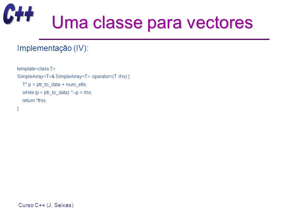 Uma classe para vectores