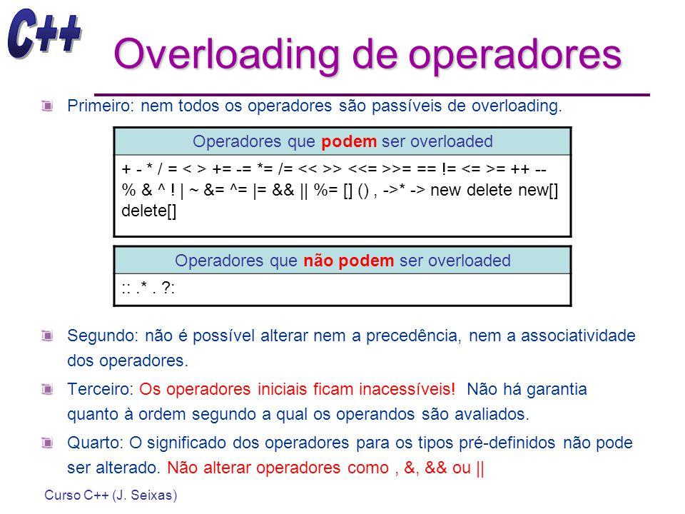 Overloading de operadores