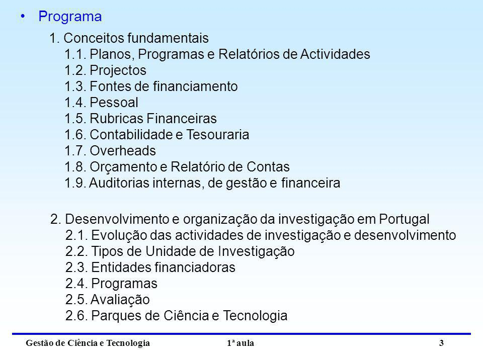 Programa 1. Conceitos fundamentais