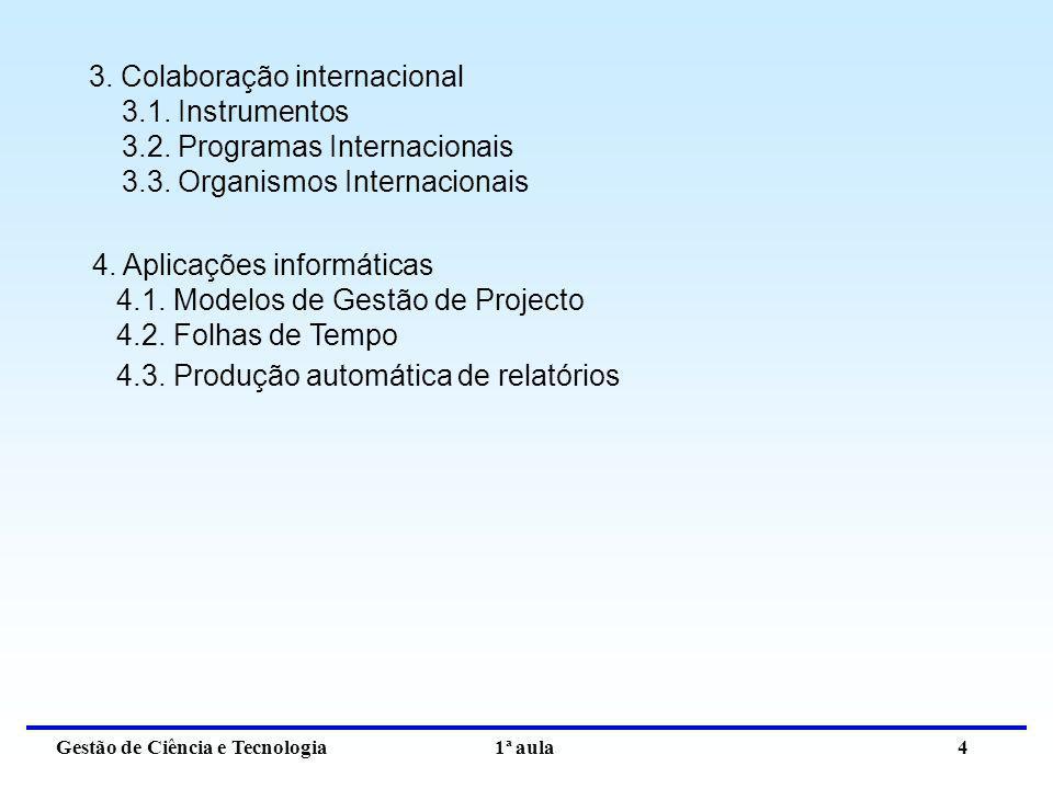 3. Colaboração internacional