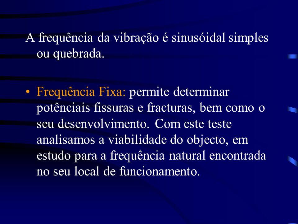 A frequência da vibração é sinusóidal simples ou quebrada.