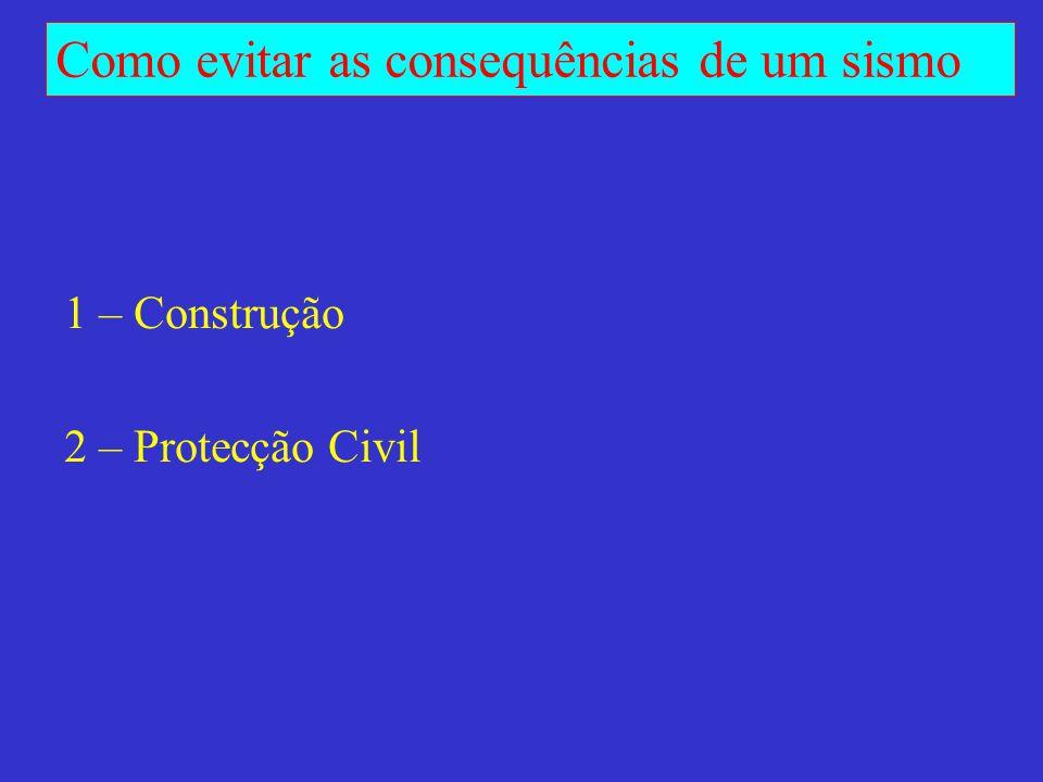 1 – Construção 2 – Protecção Civil