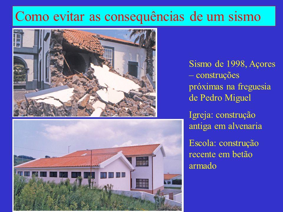 Sismo de 1998, Açores – construções próximas na freguesia de Pedro Miguel
