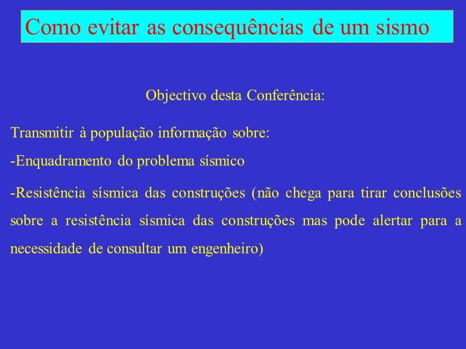 Objectivo desta Conferência: